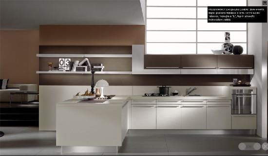 Cucina tortora con pavimento grigio arredare casa con pavimento